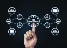 Sieć rozwoju pojęcie Internet i technologia Zdjęcia Stock
