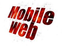 Sieć rozwoju pojęcie: Mobile Web na Cyfrowego tle royalty ilustracja
