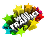 Sieć ruchu drogowego gwiazd tła wzrosta widoków Online rewizja Reputa Obrazy Royalty Free