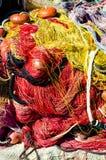 Sieć rybacka z plażą Zdjęcie Stock