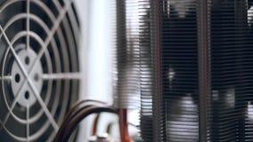 Sieć serweru stojaka panel z dyskami twardymi w a zdjęcie wideo