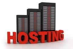 Sieć serwery Obraz Stock