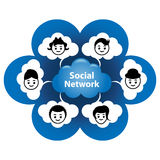 sieć socjalny Zdjęcia Stock