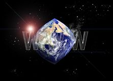 sieć szeroki świat Fotografia Royalty Free