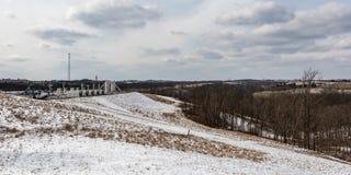 Sieć sztandar ropa i gaz studnie w wschodnim Ohio obraz royalty free