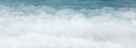 Sieć sztandaru wody morskiej fala piankowy tło obraz royalty free