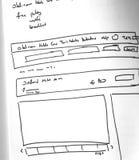 Sieć układu nakreślenia papierowa książka, wisząca ozdoba i sieć, kreślimy Obraz Stock