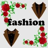 Sieć Ustawiająca 6 ilustracyjny przystojny garnitur ilustracji