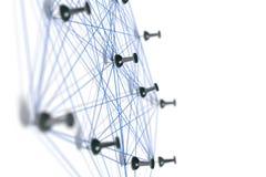 Sieć z szpilkami obraz stock