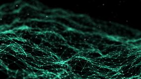 Sieć związek kropkuje i wykłada tła binarnego kodu ziemi telefonu planety technologia plexus Duży dane tło Zieleń świadczenia 3 d ilustracja wektor