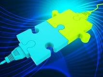 Sieć związek Wskazuje Globalne komunikacje I komputer ilustracja wektor