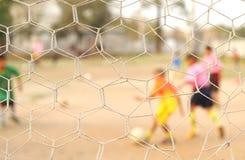 Sieć daje sieci jasnemu osoby sztuki futbolu nie cle Obraz Royalty Free