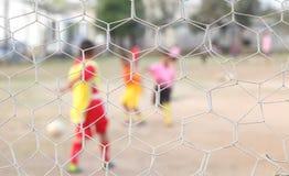 Sieć daje sieci jasnemu osoby sztuki futbolu nie cle Fotografia Royalty Free