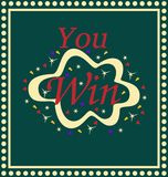 Sie gewannen spielendes Lotterie-Spiel-Kasino Lizenzfreie Stockbilder