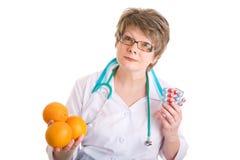 Sie haben ein choise, zum von medcine zu nehmen oder nicht Lizenzfreie Stockfotos