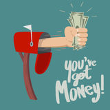 Sie haben Geld! Stockfotografie