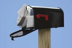 Sie haben zu viel Post Stockbilder