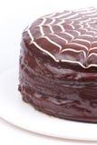 Sieć halloweenowy tort Obraz Stock
