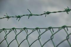 Sieć i drut kolczasty Zdjęcie Stock