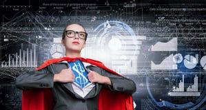 Sie ist Superfinanzier Lizenzfreies Stockfoto