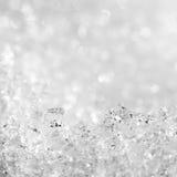 Sie können einzelne Schneeflocken im Großen Foto ansehen Lizenzfreies Stockfoto