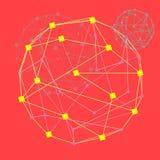 Sie? Koloru okr?gu cyber tunel, Futurystyczny abstrakcjonistyczny t?o, wektorowa ilustracja ilustracji