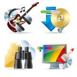 sieć komputerowa ikon iii Obrazy Stock