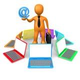 sieć komunikacyjna Obrazy Stock