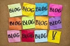 Sie müssen Bloganzeige Stockfoto