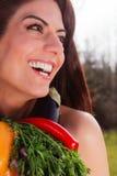 Sie macht gesunde Ernährung eine Priorität Lizenzfreie Stockfotografie