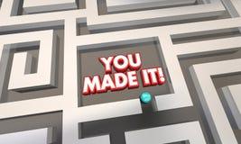 Sie machten es Maze Lost Found Success Lizenzfreie Stockfotos