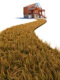 Sie neues Haus Lizenzfreie Stockfotografie