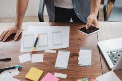 Sieć projektanta planistyczny zastosowanie dla telefonu komórkowego Obraz Royalty Free