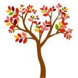 Sie? r?wnie? zwr?ci? corel ilustracji wektora jesieni drzewa z pomara?cze li??mi odizolowywaj?cymi na bia?ym tle ilustracja wektor