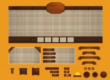 Sieć retro element ilustracja wektor