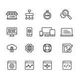 Sieć rozwoju konturu ikony, wektor Zdjęcie Stock