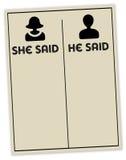 Sie sagte, dass er sagte Stockbilder