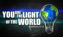 Sie sind das Licht der Welt lizenzfreie abbildung