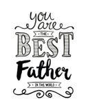 Sie sind der beste Vater in der Welt Stockbild