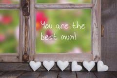 Sie sind die beste Mama! Grußkarte für Muttertag lizenzfreies stockbild