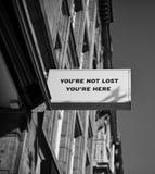 Sie sind nicht, Sie sind hier verloren lizenzfreies stockfoto