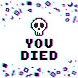 Sie starben Pixelstörschub stock abbildung