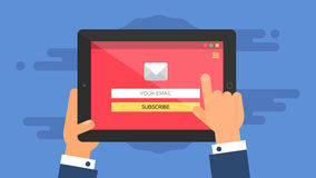 Sieć szablon pastylka emaila forma Obraz Stock