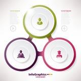 Sieć sztandaru infographic szablon dla biznesu Obrazy Royalty Free