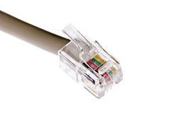 sieć tv kablowej biel Fotografia Stock