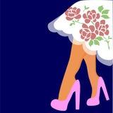 Sie? wektoru ilustracja nogi w butach royalty ilustracja