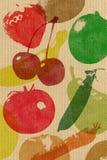 Siebdrucklebensmittelgeschäft-Papierbeutel Stockbilder