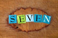 Sieben lizenzfreie stockfotos
