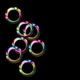 Sieben bunte Ringe lizenzfreie abbildung