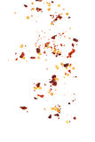 Sieben der Flocken des Paprikapfeffers Stockfoto
